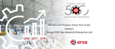 Erse Kablo Rises Every Year in the Turkey's Second Top 500 Industrial Enterprises List